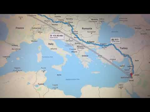 Travel London To Tel Aviv Israel Google Map View Holy Land