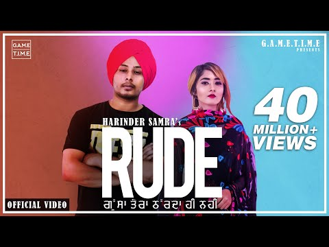 Rude | Gussa Tera | Aakda ne kha layi mai | Harinder Samra | Dreamboy  | new punjabi song 2019