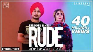 Rude Gussa Tera Aakda ne kha layi mai Harinder Samra Nisha bhatt new punjabi song 2019