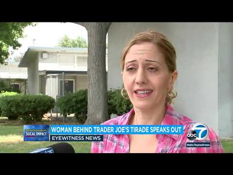 Woman speaks out after tirade at Trader Joe's store in North Hollywood