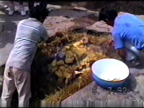 PACHAMANCA EN EL  CHILITO KM. 51,200 CARRETERA CENTRAL  1992