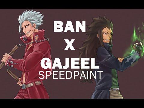 Speedpaint - Ban (NnT) x Gajeel Redfox (FT) (Commission)