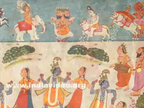 Krishna's Rasa Lila or dance with the gopis