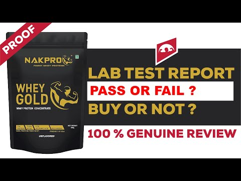 NAKPRO WHEY GOLD CONCENTRATE REVIEW WITH LAB TEST REPORT || BUY OR NOT || GENUINE REVIEW