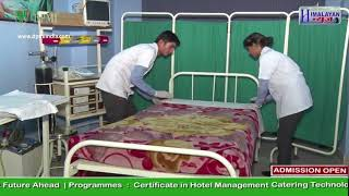 Hospital bed making by Paramedical Students | Delhi Paramedical and Management Institute