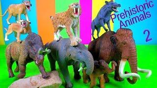 NEW Prehistoric Animals MAMMOTH SMILODON - fun video for kids