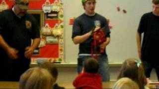 Fire Fighters Visit Kindergarten Class