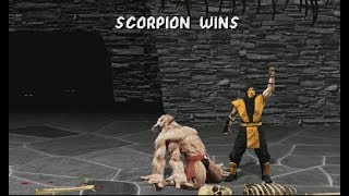 Mortal Kombat 1 (Remake) Scorpion (HD!) Full Playthrough