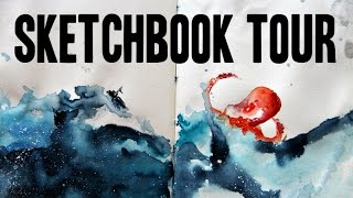 Sketchbook Tour! ▲ (Watercolor sketches and more)