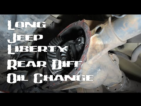 (Long) How To Replace Rear Differential Fluid On Jeep Liberty 2002-2007 KJ