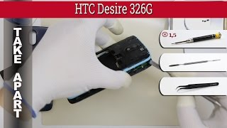 How to disassemble 📱 HTC Desire 326G Take apart Tutorial