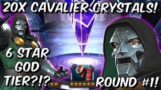 20x 6 Star Doctor Doom Cavalier Crystal Opening - God Tier 6 Star?!?! - Marvel Contest of Champions