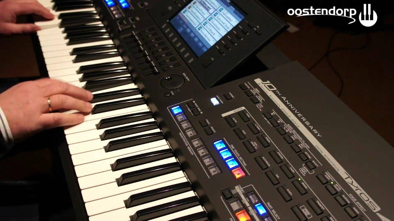Yamaha tyros 4 black limited edition keyboard bij for Yamaha keyboard parts