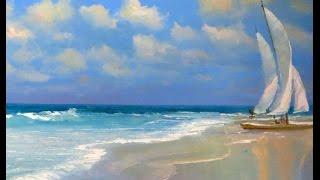 Как легко нарисовать Море масляными красками. Онлайн урок Любы Дикер