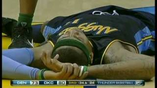 Carmelo Anthony unconscious on floor while game Continues thumbnail