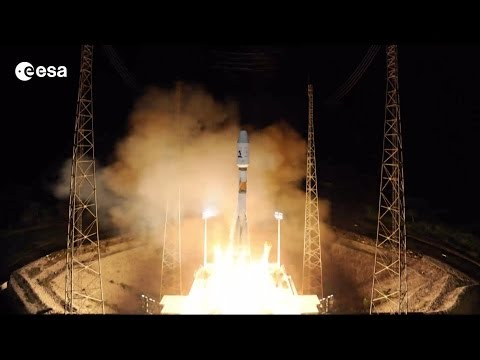 Timelapse film Soyuz flight VS06, with Gaia