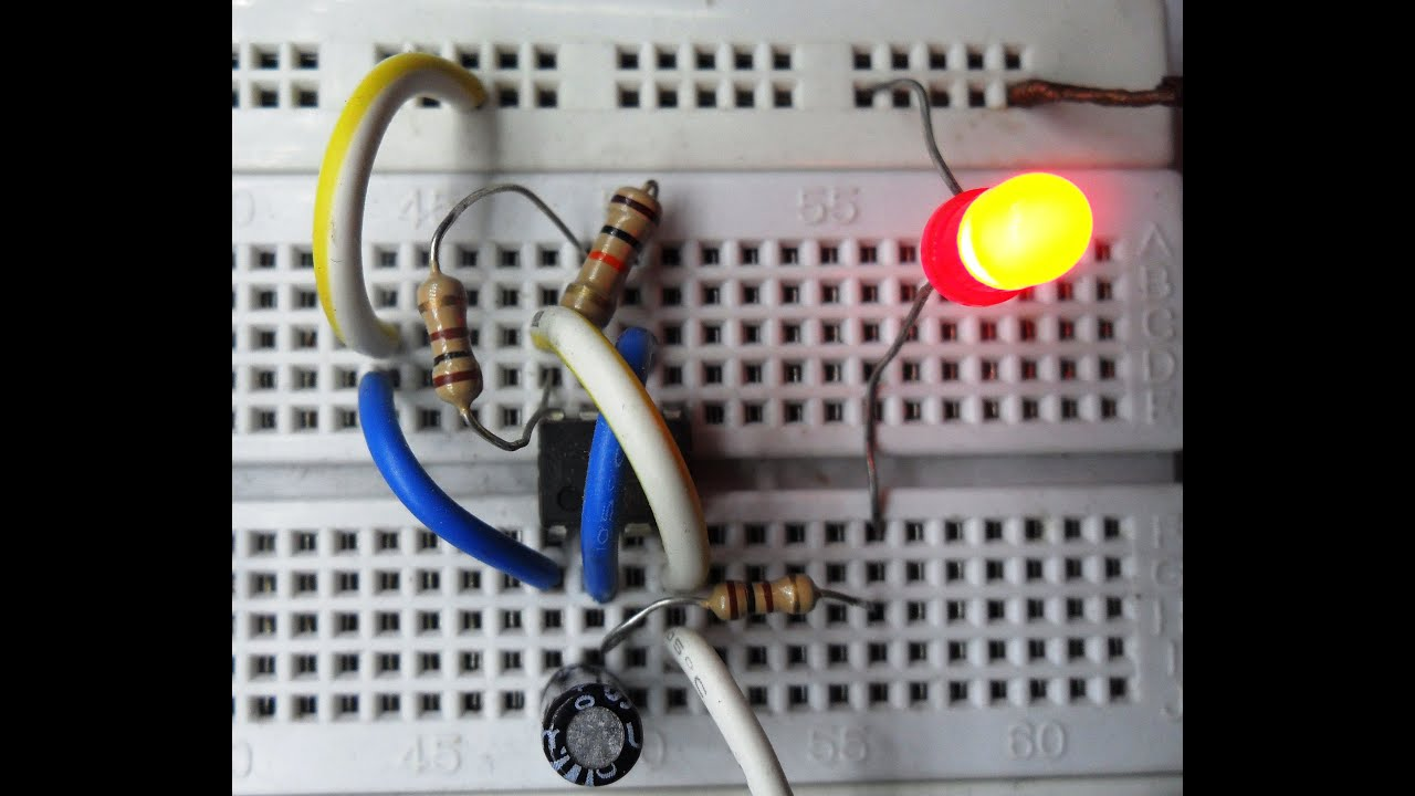 Led Flasher Circuit Using 555 Timer Ic
