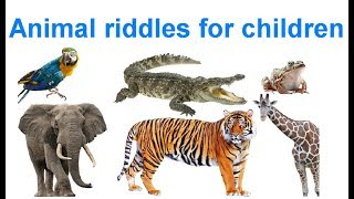 Animal riddles for children in English. Загадки о животных на английском детям