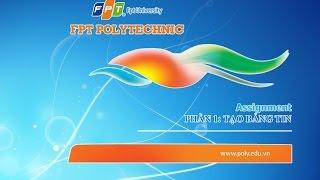 ASSIGNMENT 1   COM 1022   Tin học văn phòng   FPT Polytechnic