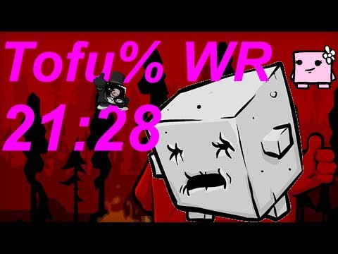 WR: 21:28 Super Meat Boy Tofu% Speedrun