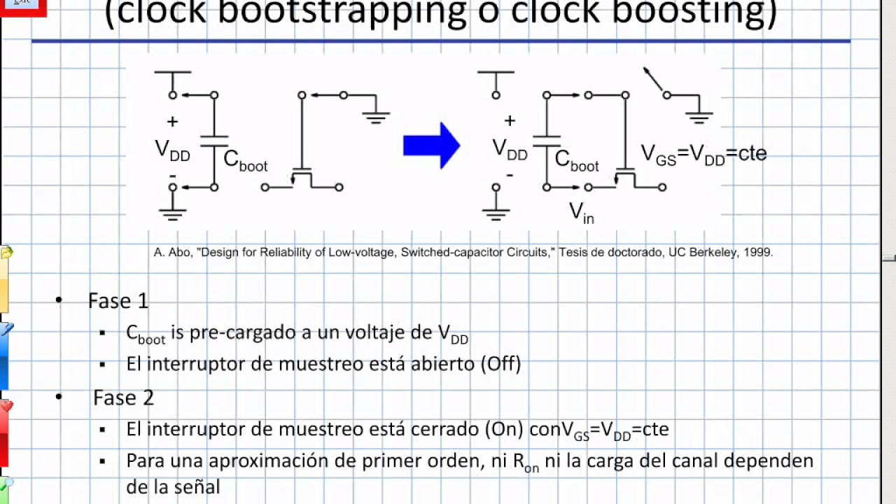 C09 - T&H: Clock bootstrapping, switches CMOS, bottom plate sampling