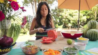 Rainbow Summer Watermelon Salsa!!