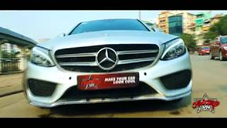 AutoWrap | Mercedes C250 Wrap Bạc Nhôm Xước