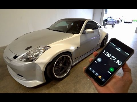 Widebody 350z Install in under 2 hours!