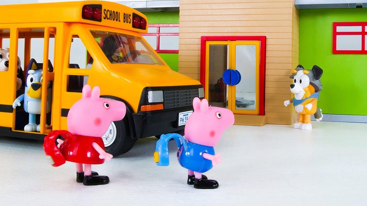 Peppa Pig and Bluey Go to School! (Hindi)