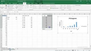 2016 kullanın Excel nicel veriler için Frekans dağılımı ve Histogram yapmak