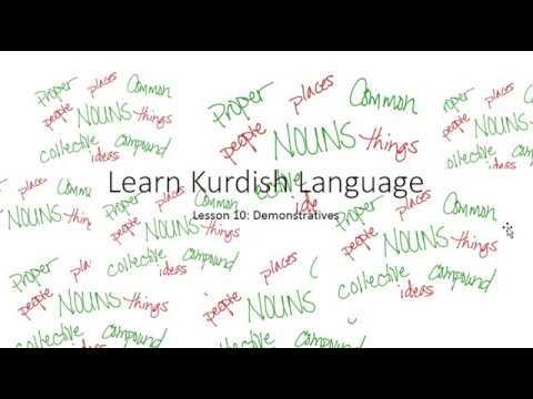 learn kurdish language lesson 10: Demonstratives