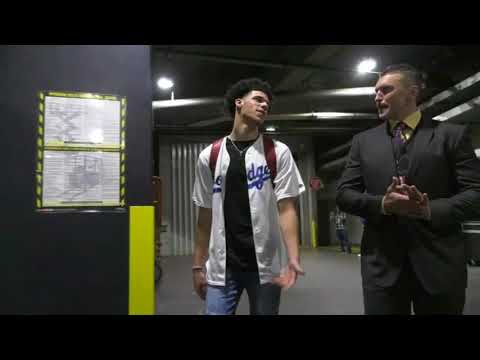 Download Youtube: Lonzo Ball arrives to Staples Center in a Dodgers jersey | ESPN