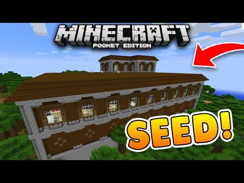 WOODLAND MANSION at SPAWN Seed!! 1.1.3 Minecraft PE! (Pocket Edition)