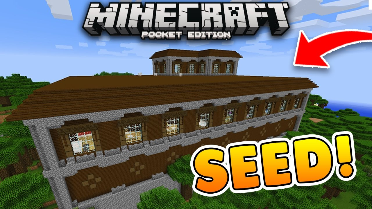 Minecraft Woodland Mansion Pe Seed Modern House
