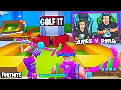 GOLF IT EN FORTNITE!!! PINO vs ARES/ Modo Creativo