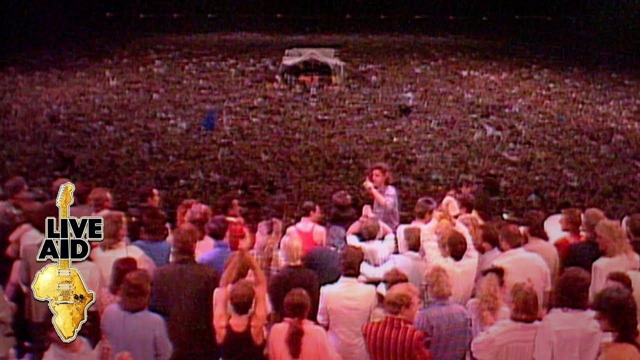 Live Aid Band July 1985 Festival Elton John David Bowie Tee