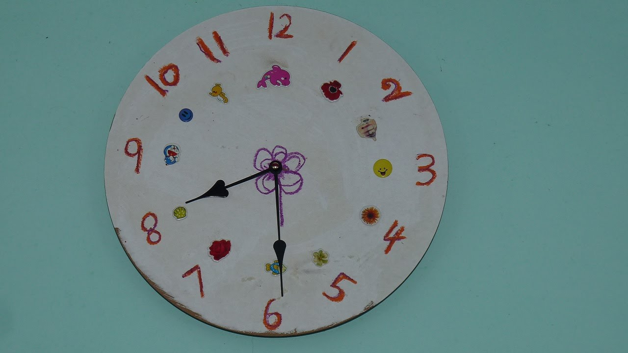 How to make your own designed clock YouTube