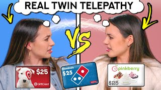 Real IDENTICAL TWINS Try The Twin Telepathy Challenge (ft. The Merrell Twins)