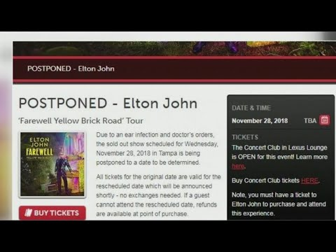 Elton John Tampa concert postponed due to ear infection Mp3