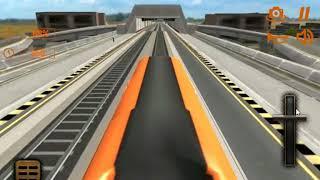 Orange Line Metro Train Game: New Train Simulator