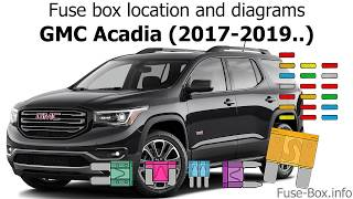 Fuse Box Location And Diagrams Gmc Acadia 2017 2019 Youtube