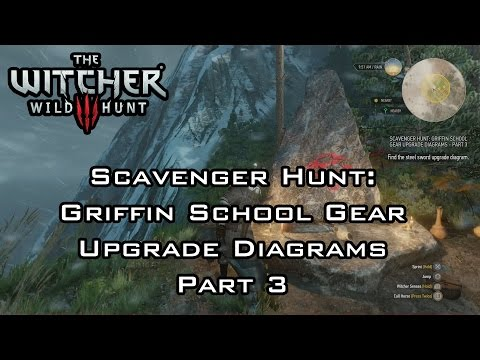 The Witcher 3: Wild Hunt - Scavenger Hunt: Griffin School Gear Upgrade Diagrams Part 3