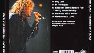 ROBERT PLANT : LIVE 2001 : A HOUSE IS NOT A MOTEL .
