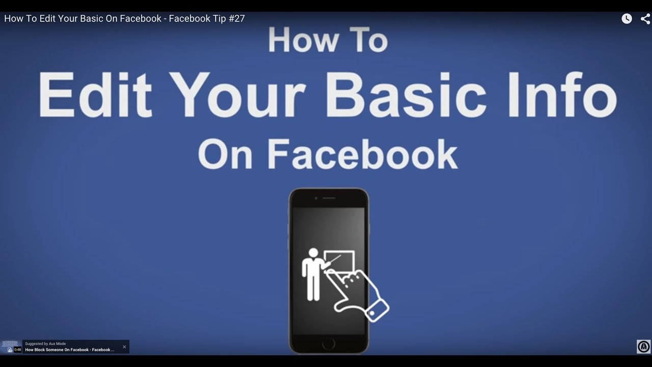 How To Edit Your Basic On Facebook  Facebook Tip #27