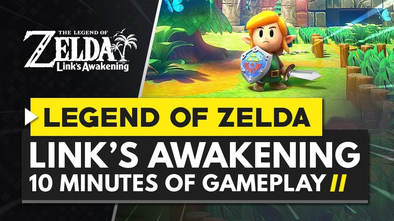 The Legend of Zelda Link's Awakening | First 10 Minutes of Gameplay + First Dungeon