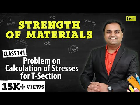 Problem on Calculation of Stress of T-Section.