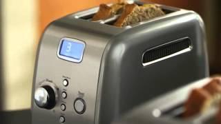 Video: KitchenAid Toustovač 5KMT221ECU stříbrná