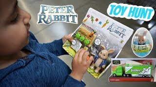 TOY HUNT 2018 PETER RABBIT Movie toys and NEW CARS 3 diecast cars