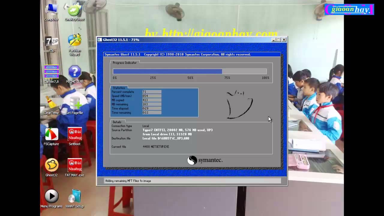 Cài win XP hay win 7 từ ổ cứng HDD