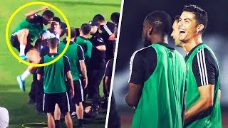 ronaldo-jumped-on-a-police-officer-when-a-fan-invaded-a-juventus-training-session-oh-my-goal